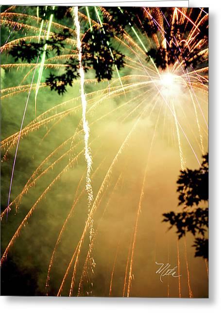 Chetola Yellow Fireworks Greeting Card