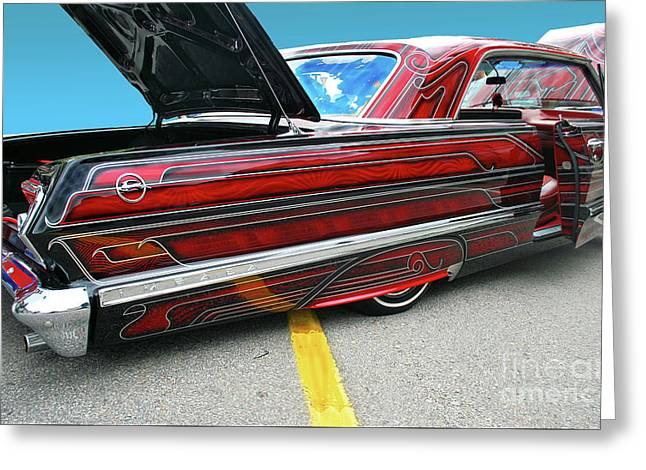 Greeting Card featuring the photograph Chev Impala 1 by Bill Thomson