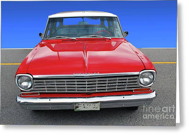 Greeting Card featuring the photograph Chev Wagon by Bill Thomson
