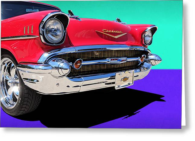 Chevrolet Bel Air Color Pop Greeting Card