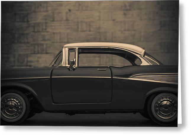 Chevrolet Bel Air Square Greeting Card by Edward Fielding
