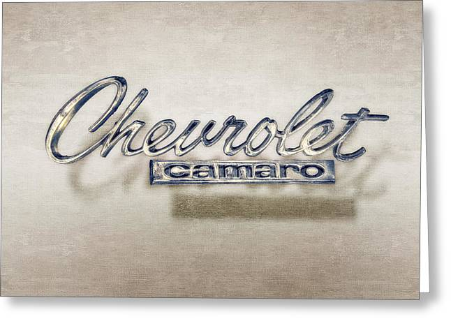 Chevrolet Camaro Badge Greeting Card by YoPedro
