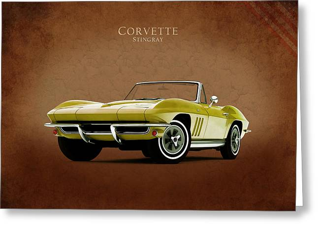 Chevrolet Corvette 1965 Greeting Card by Mark Rogan