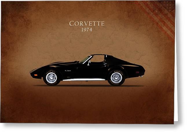 Chevrolet Corvette 1974 Greeting Card by Mark Rogan