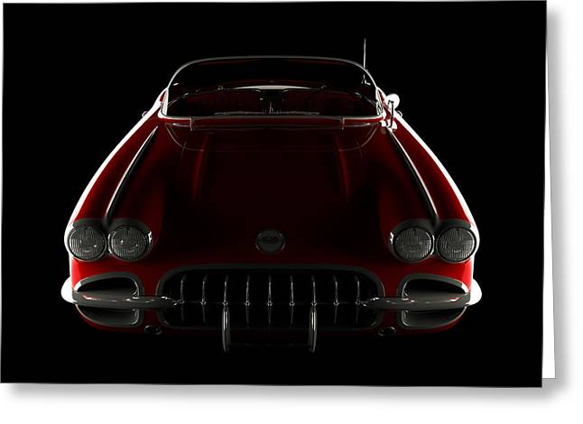 Chevrolet Corvette C1 - Front View Greeting Card