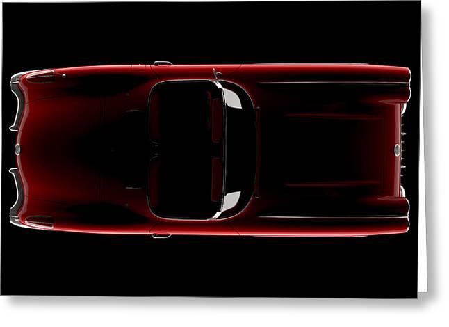 Chevrolet Corvette C1 - Top View Greeting Card