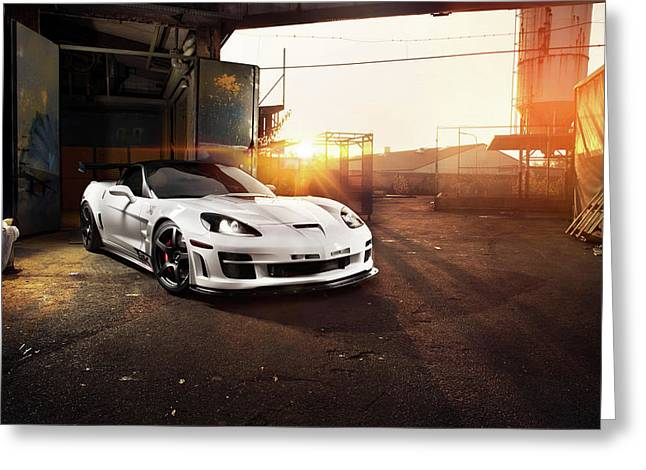 Chevrolet Corvette C6 Zr1 Tripple X Greeting Card by F S