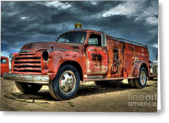 Chevrolet Fire Truck Greeting Card