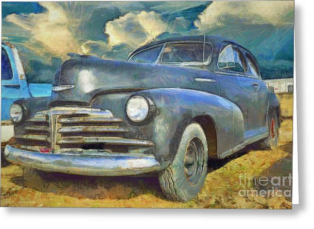 Chevrolet Fleetline Greeting Card by L Wright