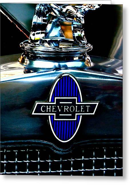 Chevrolet Hoodie Greeting Card by Gwyn Newcombe