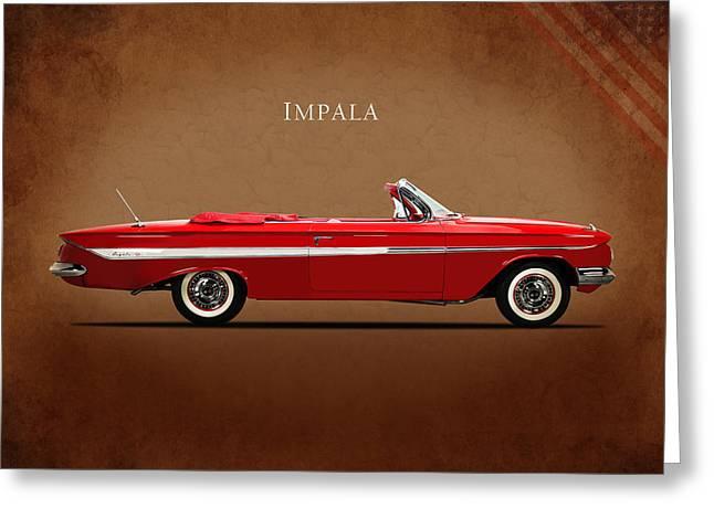 Chevrolet Impala Ss 409 Greeting Card by Mark Rogan