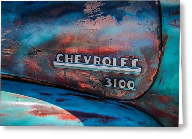 Chevrolet Truck Side Emblem -0842c2 Greeting Card by Jill Reger