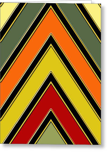 Chevrons With Color - Vertical Greeting Card