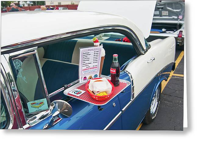 Chevy 2046 Greeting Card by Guy Whiteley