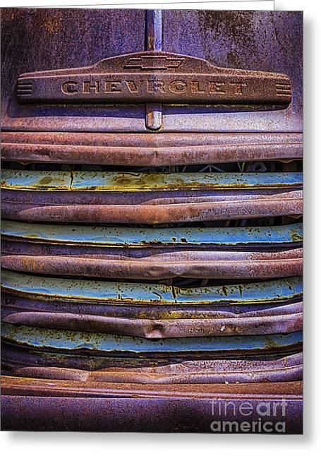 Chevy 3100 Grill Greeting Card