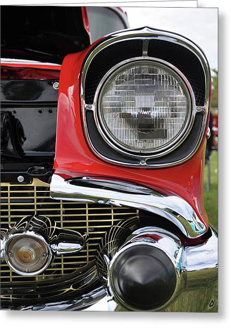 Greeting Card featuring the photograph Chevy Bel Air by Glenn Gordon
