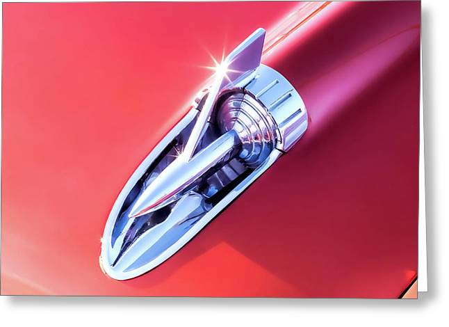 Chevy Bel Air Hood Rocket Greeting Card