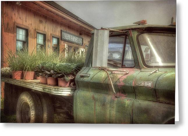 Greeting Card featuring the photograph Chevy C 30 Pickup Truck - Colby Farm by Joann Vitali