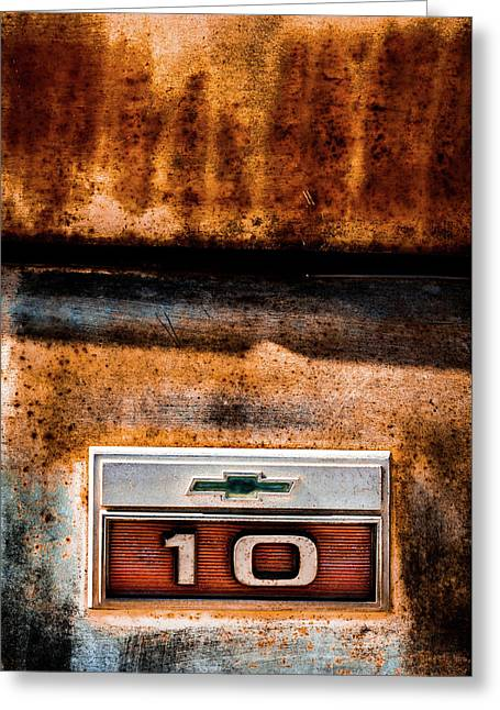 Chevy C10 Rusted Emblem Greeting Card