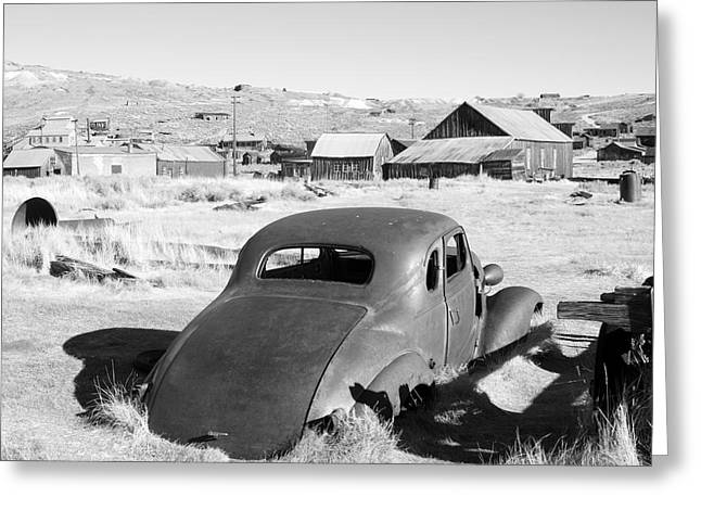 Canon 50d Greeting Cards - Chevy Coupe Bodie CA Greeting Card by Troy Montemayor