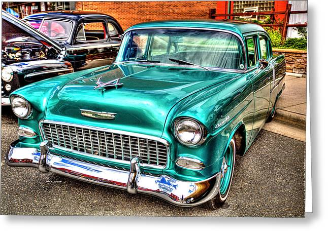 Chevy Cruising 55 Greeting Card by Dale R Carlson