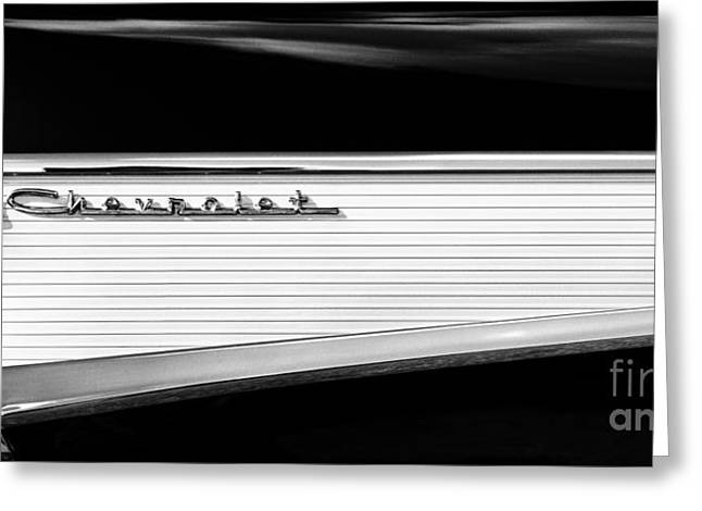Chevy Fin Greeting Card by Tim Gainey