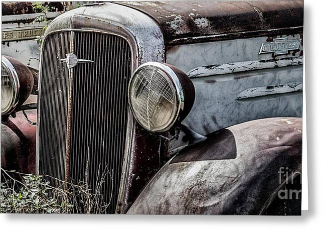 Greeting Card featuring the photograph Chevy Grill IIi by Brad Allen Fine Art