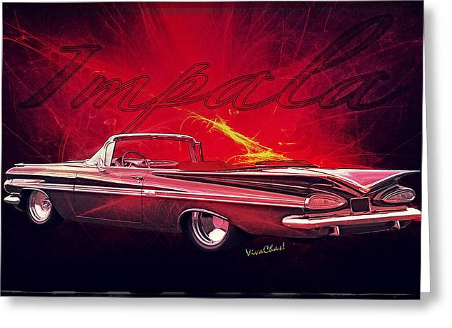 Chevy Impala Convertible For 1959 Greeting Card