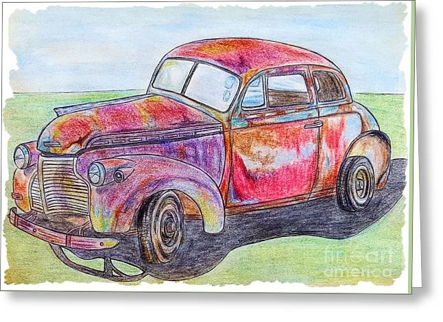 Chevy Greeting Card by Lisa Pfeiffer