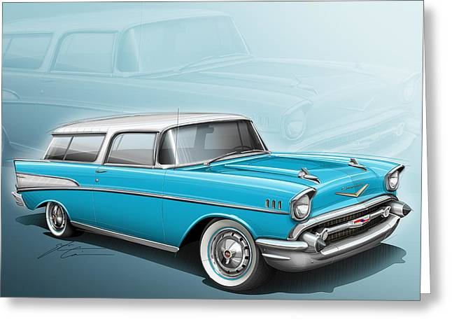 Chevy Nomad Wagon 1957 Greeting Card