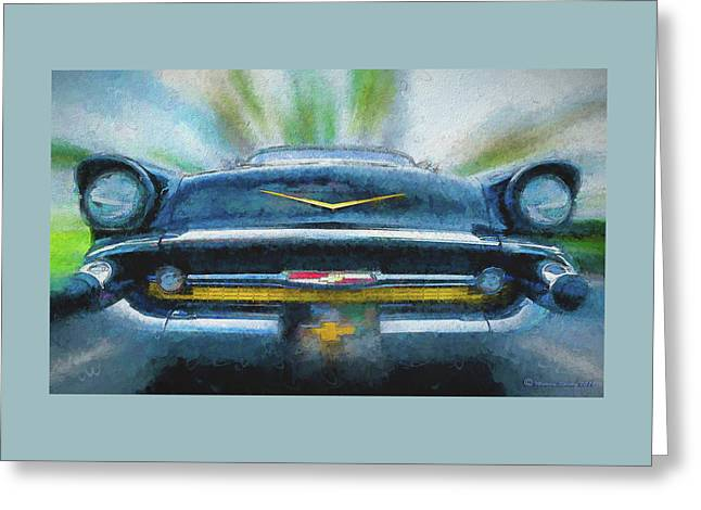 Chevy Power Greeting Card by Marvin Spates