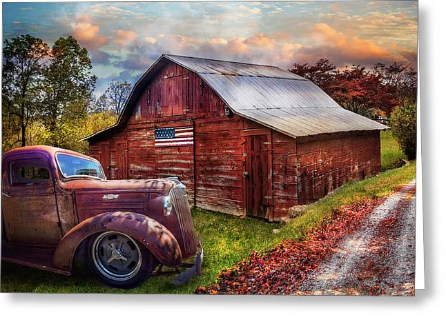 Chevy Truck On The Back Roads Greeting Card