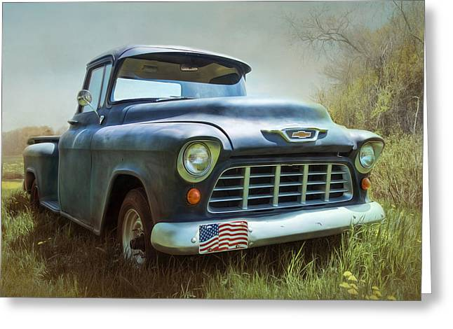 Greeting Card featuring the photograph Chevy Truck by Robin-Lee Vieira