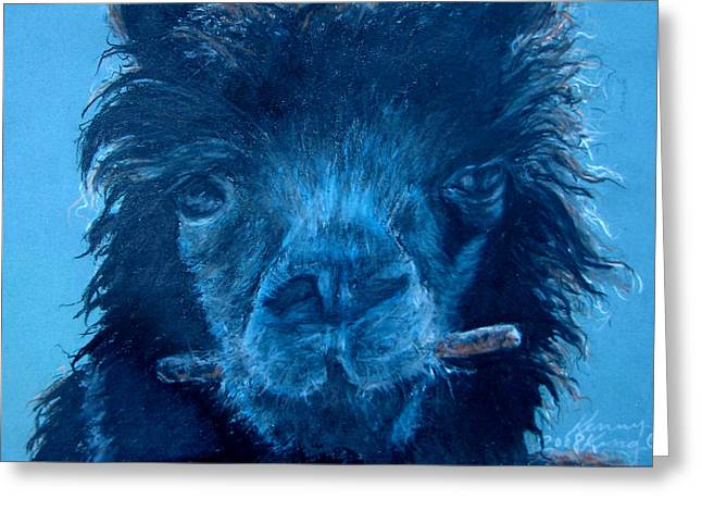 Prisma Colored Pencil Greeting Cards - Chew On This Greeting Card by Kenny King