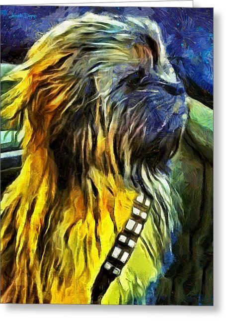 Chewbacca Dog - Da Greeting Card by Leonardo Digenio