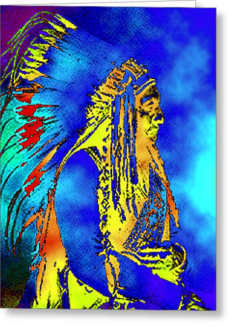 Cheyenne Chief Greeting Card by Ben Freeman
