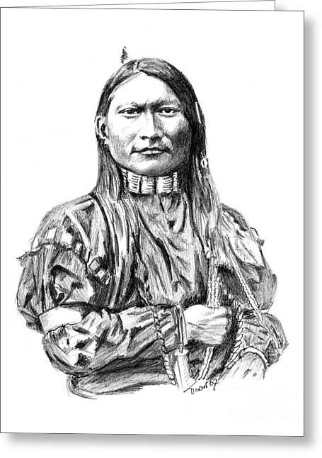 Cheyenne Man Greeting Card