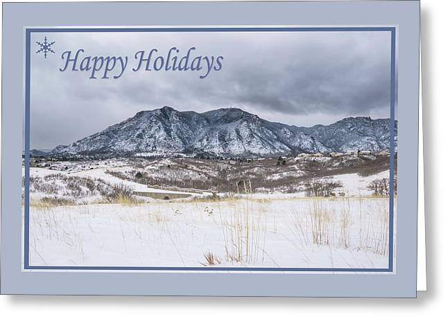 Greeting Card featuring the photograph Cheyenne Mountain Colorado Springs by Christina Lihani