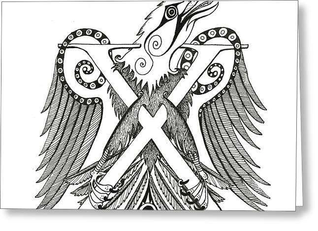 Chi Eagle Greeting Card by Melinda Dare Benfield