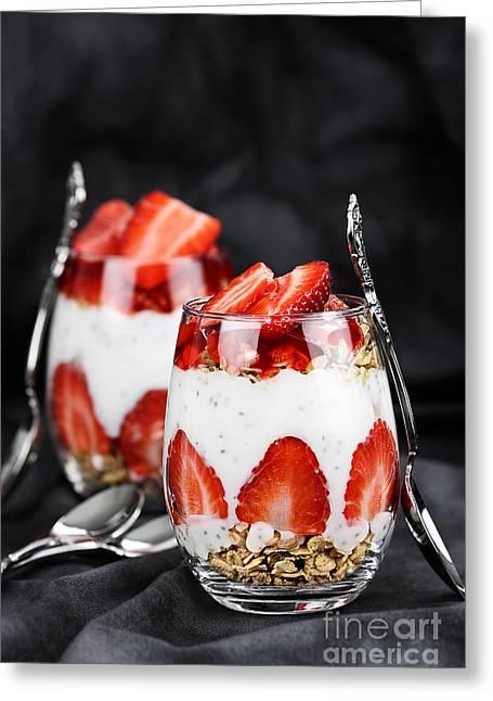 Chia Strawberry Parfait  Greeting Card by Stephanie Frey