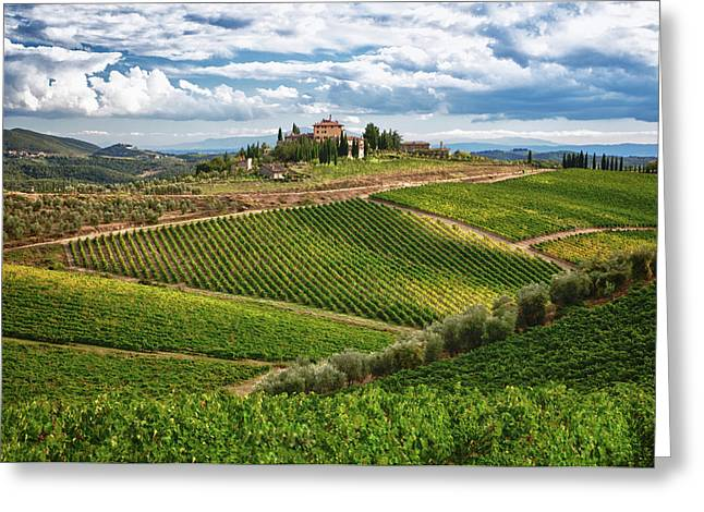 Chianti Greeting Cards - Chianti Landscape Greeting Card by Eggers   Photography