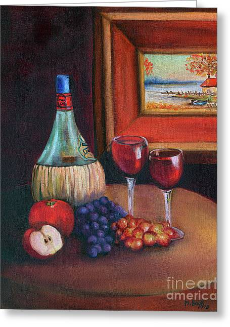 Chianti Still Life Greeting Card