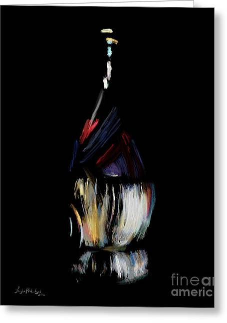 Chianti's Seduction - Wine Greeting Card by Willow Perkinson