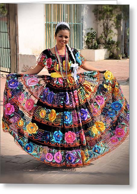 Chiapaneca Dress Greeting Card by Jim Walls PhotoArtist