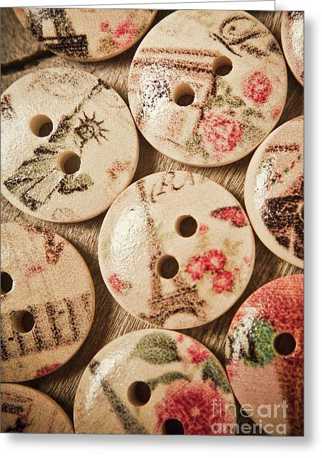Chic Button Boutique Greeting Card