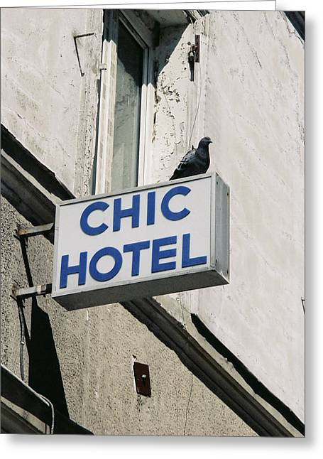 Chic Hotel Greeting Card