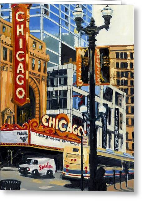 Chicago - The Chicago Theater Greeting Card