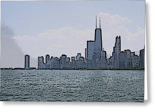 Chicago Across Lake Michigan Greeting Card