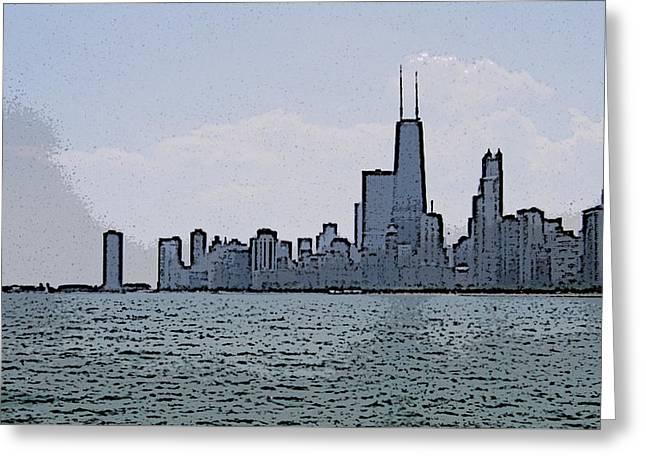 Chicago Across Lake Michigan Greeting Card by Skyler Tipton