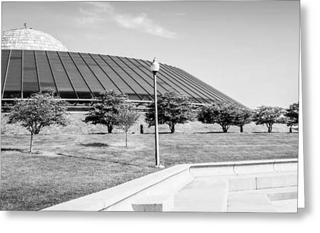 Chicago Adler Planetarium Black And White Panoramic Picture Greeting Card by Paul Velgos